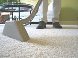 carpet cleaner in action